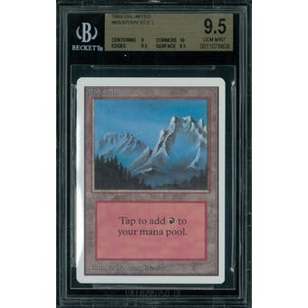 Magic the Gathering Unlimited Mountain v1 BGS 9.5 (9, 10, 9.5, 9.5)