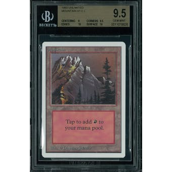 Magic the Gathering Unlimited Mountain v1 BGS 9.5 (9, 9.5, 10, 10)