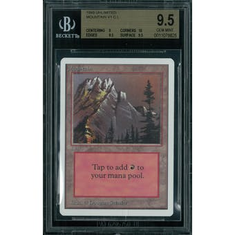 Magic the Gathering Unlimited Mountain v2 BGS 9.5 (9, 10, 9.5, 9.5)