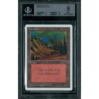Magic the Gathering Unlimited Mountain v3 BGS 9 (9, 9.5, 9, 9.5)