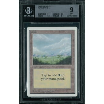 Magic the Gathering Unlimited Plains v2 BGS 9 (9, 9.5, 9.5, 9)
