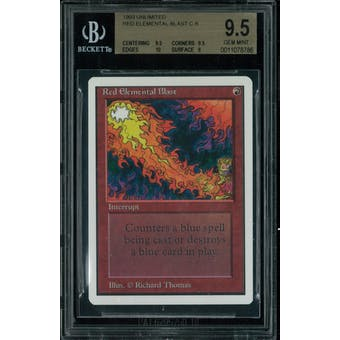 Magic the Gathering Unlimited Red Elemental Blast BGS 9.5 (9.5, 9.5, 10, 9)