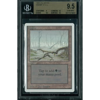 Magic the Gathering Unlimited Swamp v1 BGS 9.5 (9, 9.5, 9.5, 9.5)