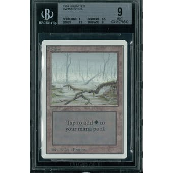 Magic the Gathering Unlimited Swamp v1 BGS 9 (9, 9.5, 9.5, 9)