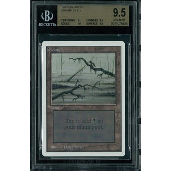 Magic the Gathering Unlimited Swamp v3 BGS 9.5 (9, 9.5, 10, 9.5)