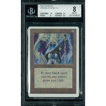 Magic the Gathering Unlimited Throne of Bone BGS 8 (7.5, 9.5, 9, 9.5)