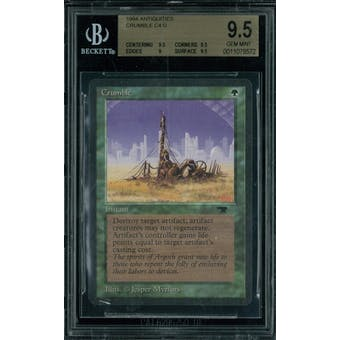 Magic the Gathering Antiquities Crumble  BGS 9.5 (9.5, 9.5, 9, 9.5)
