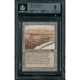Magic the Gathering Antiquities Strip Mine, horizon, even stripe  BGS 9 (9.5, 8.5, 9, 9.5)