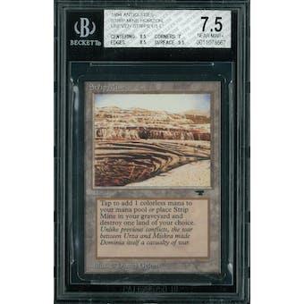 Magic the Gathering Antiquities Strip Mine, horizon, uneven stripe  BGS 7.5 (8.5, 7, 8.5, 9.5) Sick Deal