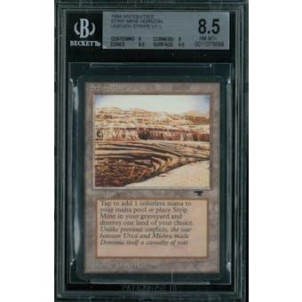 Magic the Gathering Antiquities Strip Mine, horizon, uneven stripe  BGS 8.5 (8, 9, 8.5, 9.5) Sick Deal Pricing