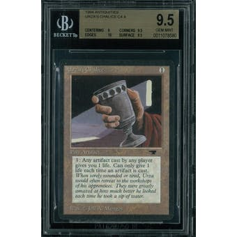 Magic the Gathering Antiquities Urza's Chalice  BGS 9.5 (9, 9.5, 10, 9.5)