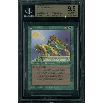 Magic the Gathering Legends Cat Warriors BGS 9.5 (9, 9.5, 9.5, 10)