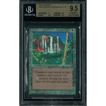Magic the Gathering Legends Concordant Crossroads BGS 9.5 (9, 9.5, 9.5, 9.5)