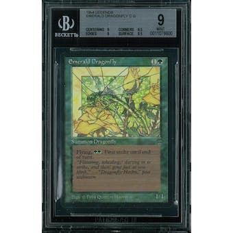 Magic the Gathering Legends Emerald Dragonfly BGS 9 (9, 9.5, 9, 9.5)