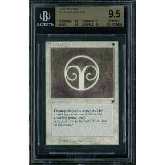Magic the Gathering Legends Glyph of Life BGS 9.5 (9.5, 9, 9.5, 10)