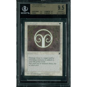 Magic the Gathering Legends Glyph of Life BGS 9.5 (9.5, 9.5, 9.5, 10)