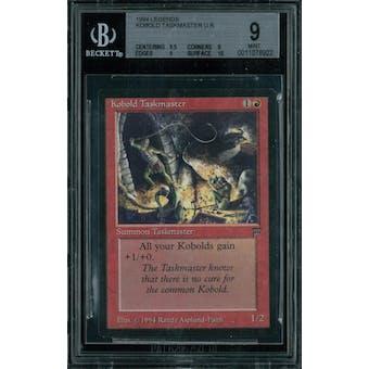 Magic the Gathering Legends Kobold Taskmaster BGS 9 (9.5, 9, 9, 10)