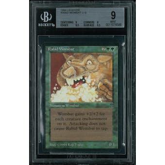 Magic the Gathering Legends Rabid Wombat BGS 9 (9, 9, 8.5, 9.5)