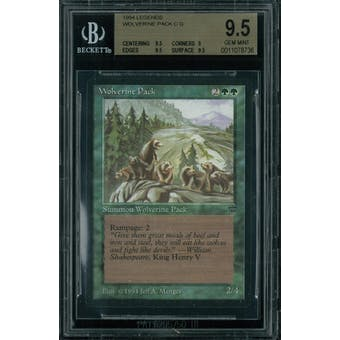 Magic the Gathering Legends Wolverine Pack BGS 9.5 (9.5, 9, 9.5, 9.5)