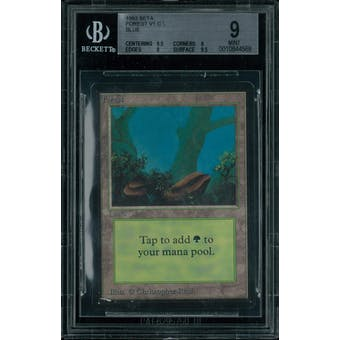 Magic the Gathering Beta Forest V1 BGS 9 (9.5, 9, 9, 9.5)