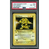 Pokemon Base Set 1st Edition Shadowless Electabuzz 20/102 PSA 8