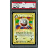 Pokemon Base Set 1st Edition Shadowless Electrode 21/102 PSA 7