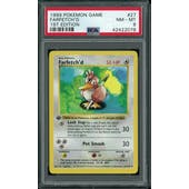 Pokemon Base Set 1st Edition Shadowless Farfetch'd 27/102 PSA 8