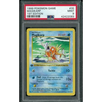Pokemon Base Set 1st Edition Shadowless Magikarp 35/102 PSA 9