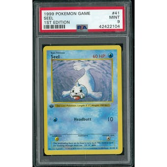 Pokemon Base Set 1st Edition Shadowless Seel 41/102 PSA 9