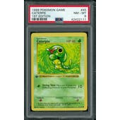 Pokemon Base Set 1st Edition Shadowless Caterpie 45/102 PSA 8