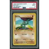 Pokemon Base Set 1st Edition Shadowless Machop 52/102 PSA 9