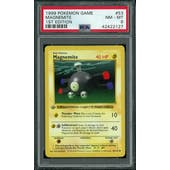 Pokemon Base Set 1st Edition Shadowless Magnemite 53/102 PSA 8