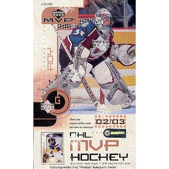 2002/03 Upper Deck MVP Hockey Hobby Box