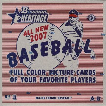 2007 Bowman Heritage Baseball Hobby Box