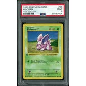 Pokemon Base Set 1st Edition Shadowless Nidoran 55/102 PSA 9