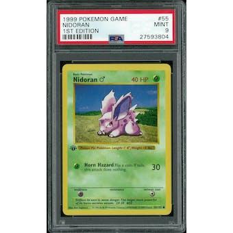 Pokemon Base Set 1st Edition Shadowless Nidoran 55/102 PSA 9