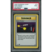 Pokemon Base Set 1st Edition Shadowless Item Finder 74/102 PSA 9