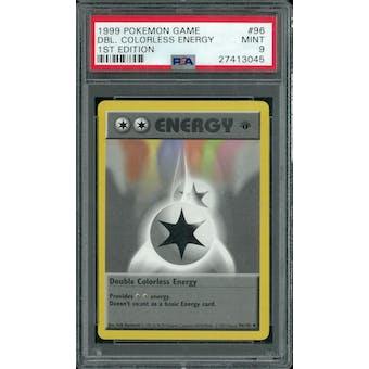 Pokemon Base Set 1st Edition Shadowless Double Colorless Energy 96/102 PSA 9