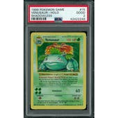 Pokemon Base Set 1 Shadowless Venusaur 15/102 PSA 2