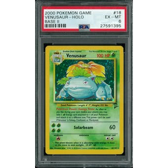 Pokemon Base Set 2 Venusaur 18/130 PSA 6