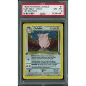 Pokemon Jungle 1st Edition Clefable 1/64 PSA 8