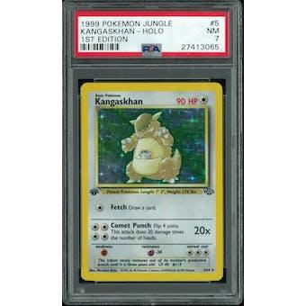 Pokemon Jungle 1st Edition Kangaskhan 5/64 PSA 7