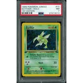 Pokemon Jungle 1st Edition Scyther 10/64 PSA 7