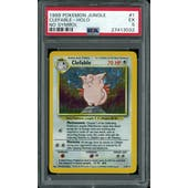 Pokemon Jungle No Set Symbol Error Clefable 1/64 PSA 5
