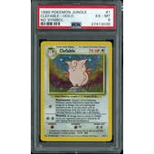 Pokemon Jungle No Set Symbol Error Clefable 1/64 PSA 6