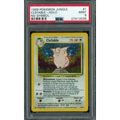 Pokemon Jungle No Set Symbol Error Clefable 1/64 PSA 9