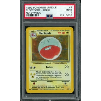 Pokemon Jungle No Set Symbol Error Electrode 2/64 PSA 9