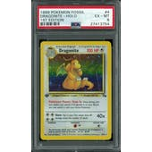 Pokemon Fossil 1st Edition Dragonite 4/62 PSA 6