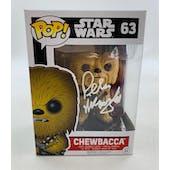 Star Wars Chewbacca Funko POP Autographed by Peter Mayhew