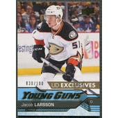 2016/17 Upper Deck #495 Jacob Larsson Young Guns Rookie Exclusives #030/100